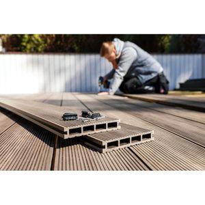 REVETEMENT EN PLANCHE Lame terrasse bois composite alvéolaire Prima - L: