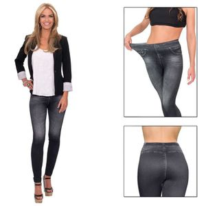 JEANS Denim Imprimé Maigre Stretchy Femmes Pantalon tail