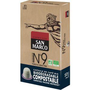 CAFÉ Caps San Marco N° 9 Bio et Compostables x 10