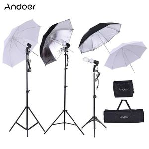 KIT STUDIO PHOTO Andoer Kit Photo Studio 14pcs:Support de lampe+45W