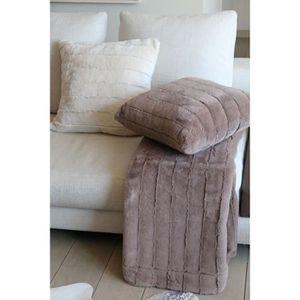 Ultra Cocooning Ultra Cosy Ultra Chaud I Fil Home Plaid Fausse Fourrure Alaska Blanc 130 x 150 cm- Ultra Doux