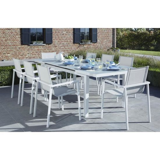 ENSEMBLE WHITESTAR 6 BLANC - Achat / Vente salon de jardin ENSEMBLE ...