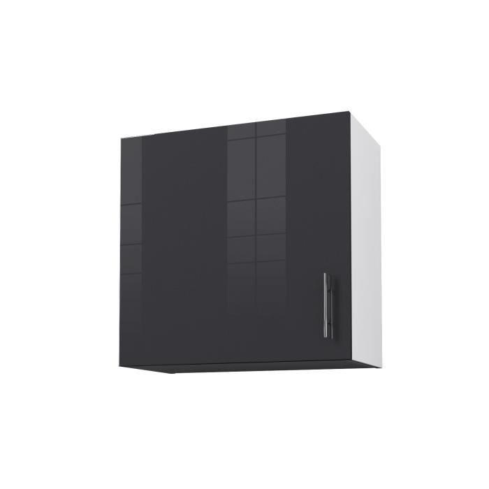 Porte meuble cuisine gris laque - Achat / Vente pas cher