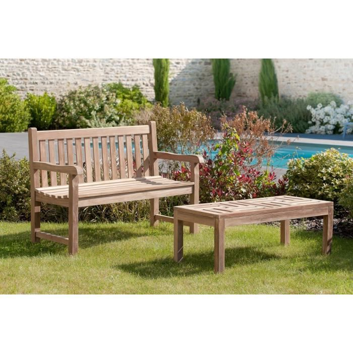 table basse en teck de jardin 100 x 50 cm achat vente table basse jardin table basse teck. Black Bedroom Furniture Sets. Home Design Ideas