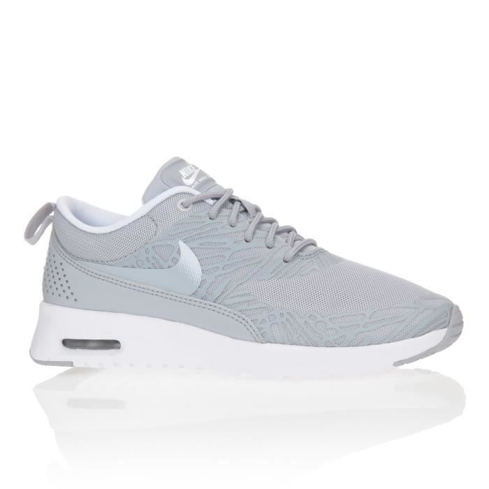 nike baskets air max thea print chaussures femme femme gris achat vente nike baskets femme. Black Bedroom Furniture Sets. Home Design Ideas