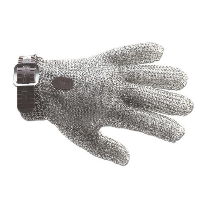 Gants de protection Arcos 61500 acier inoxydable 21 cm Taille 0-XXS ruban gris dans la boîte.