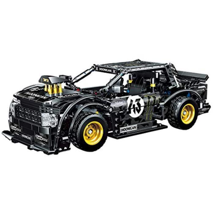 Jeu D'Assemblage ESJP8 Voiture de sport technique, Kit de construction 823 pièces pour modèle de voiture Ford Mustang, ensembles de