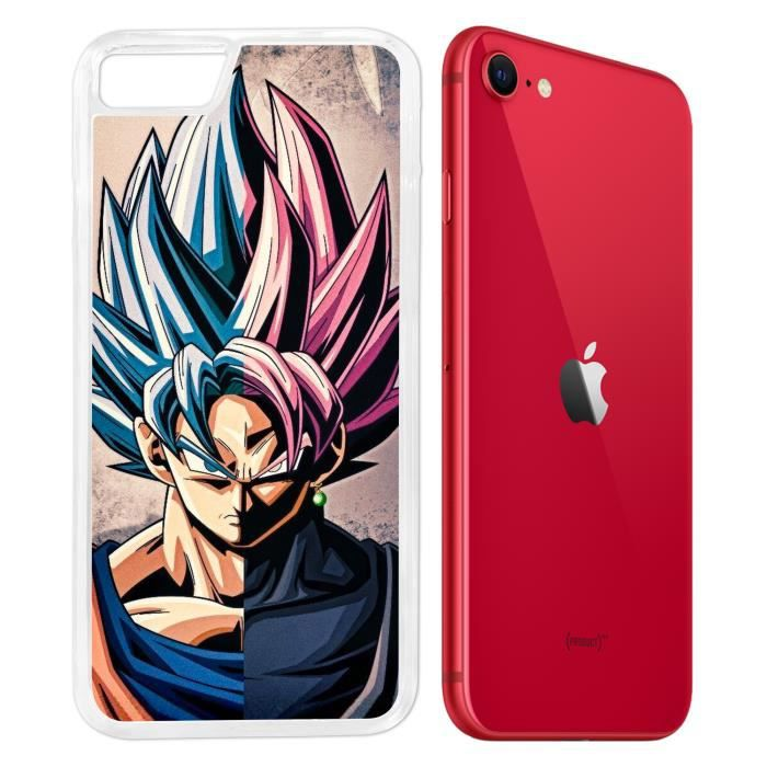 Coque iPhone SE 2020 - Sangoku Dragon Ball Super. Accessoire telephone
