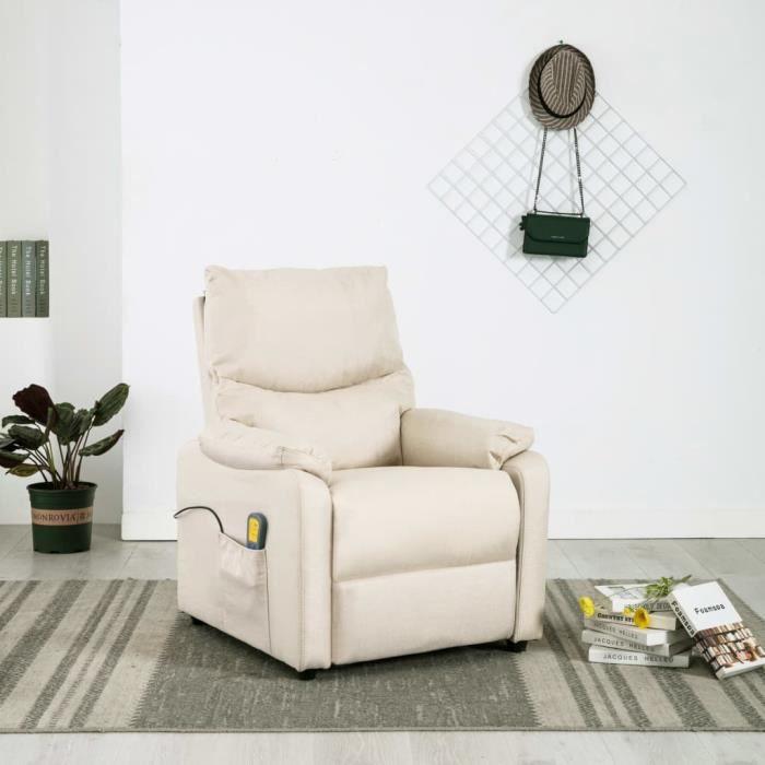 ����Luxueux Magnifique- Fauteuil Salon Scandinave elegant - Fauteuil de massage électrique Chaises relax Relaxation Réglable-F1574