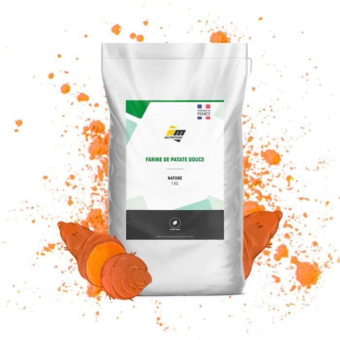 Farine de Patate Douce en poudre • 100% pure • Sachet de 1 Kg • Excellente source de glucides • Index Glycémique modéré • Idéale pou