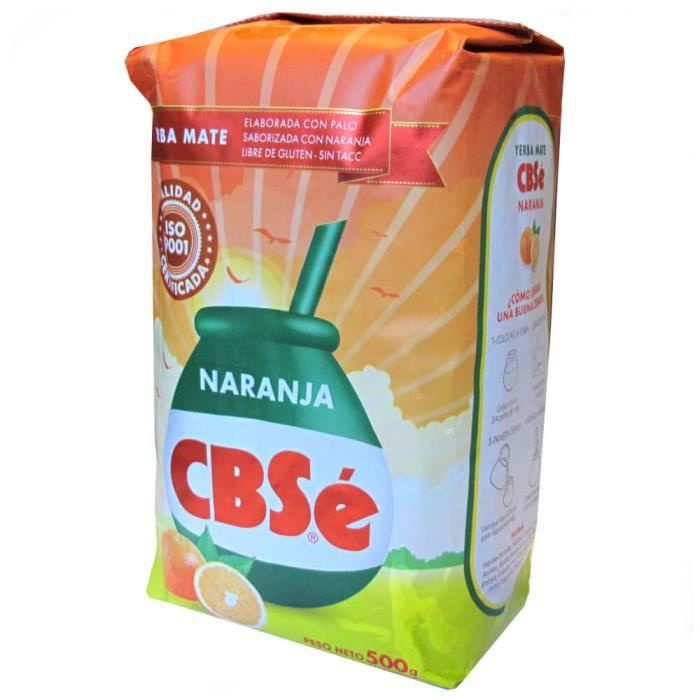 Yerba Maté CBSé - saveur orange 500g