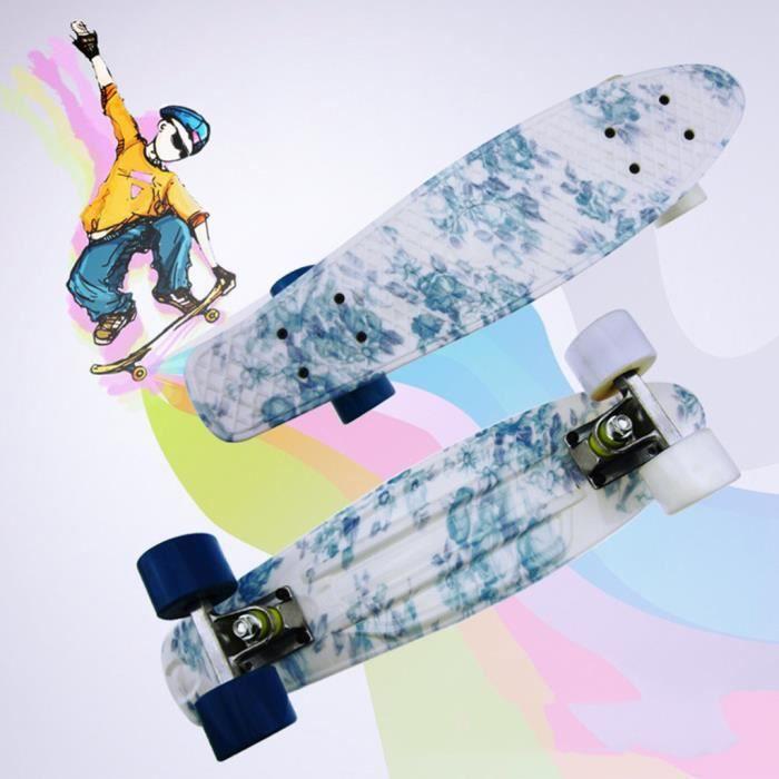 Planches à roulettes de poisson complètes pour les débutants Kick Skate Board pour garçons filles enfants Miaienu 40