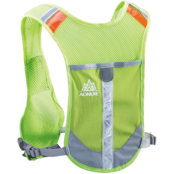 gilet trail sac d'hydratation gilet de course sac à dos running réfléchissant veste fluo pour homme femme randonnée vélo marathon