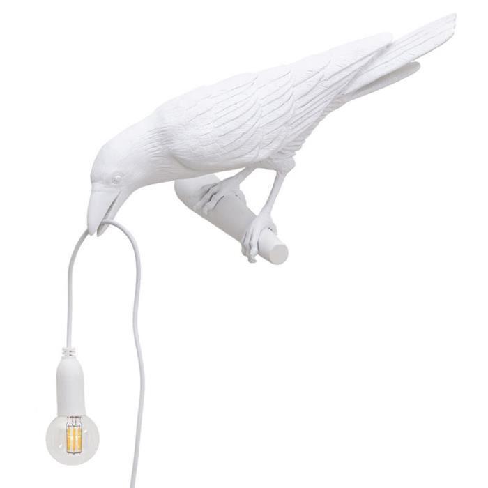 Eclairage aquarium,nimalerie,Lampes murales blanches en forme de corbeau, Style nordique, décoration pour maison-Type multicolor -C