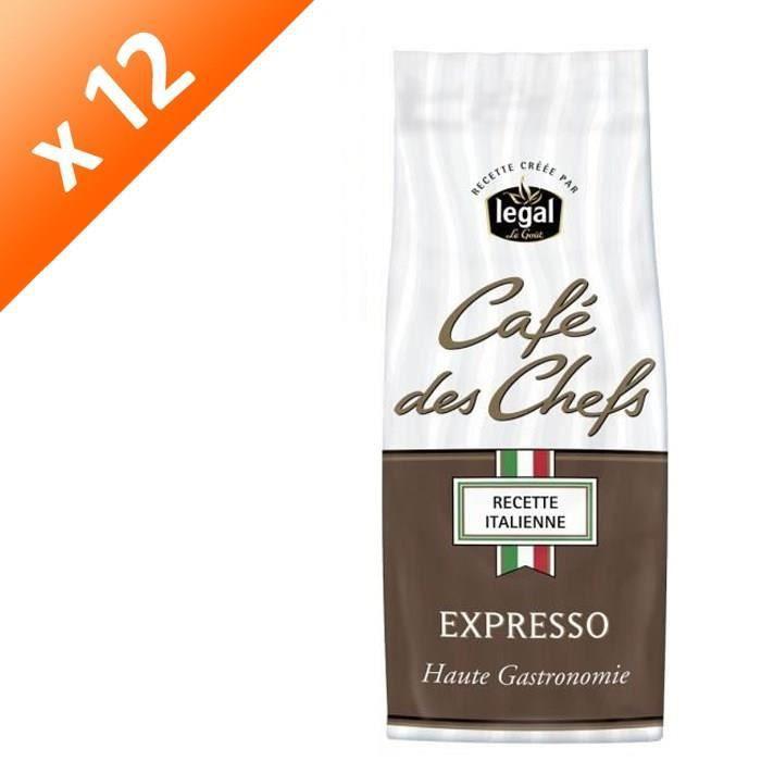 [LOT DE 12] LEGAL Cafés des Chefs Expresso Moulu - 250 g