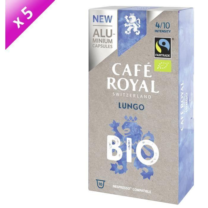 [LOT DE 5] CAFE ROYAL NS Alu Lungo Bio x10