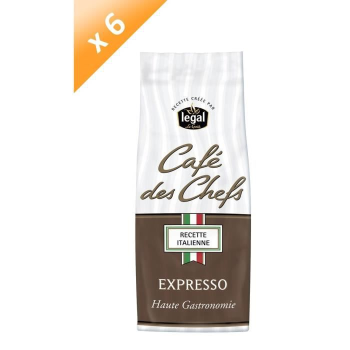 [LOT DE 6] LEGAL Cafés des Chefs Expresso Moulu - 250 g