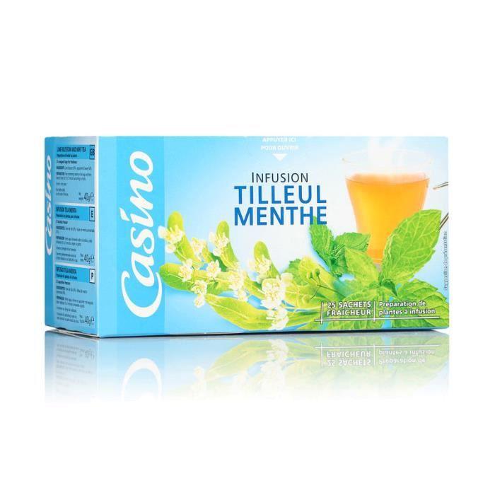 Lot de 25 sachets Infusion Tilleul Menthe - 40g