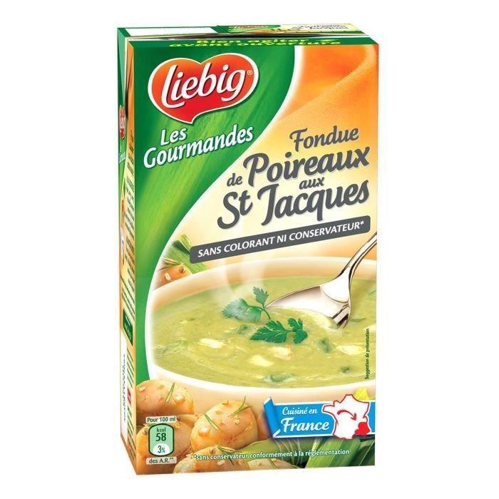 Liebig Soupe fondue de poireaux aux St Jacques 1L