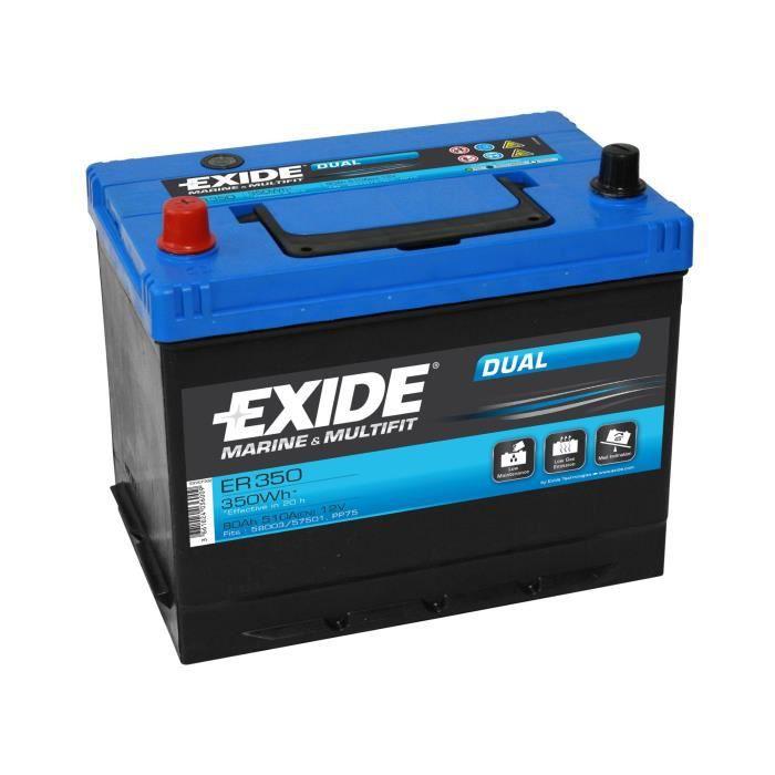 Batterie marine DUAL 80 Ah EXIDE