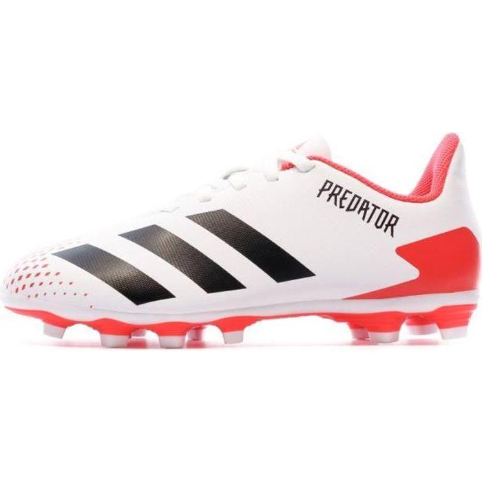 Predator 20.4 FG Chaussures de foot blanches enfant Adidas