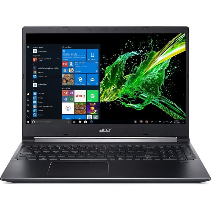 Acer pc portable gamer aspire 7 a715 74g 528l 156 fhd core i5 9300h ram 8go stockage 1to hdd 256go ssd gtx 1650 4go