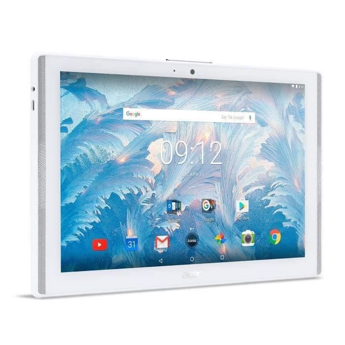 ACER Tablette tactile Iconia One 10 B3-A40 - NT.LDNEE.009 10,1'' HD - 2Go de RAM - Android 7.0 - MediaTek MT8167B - Stockage 16Go