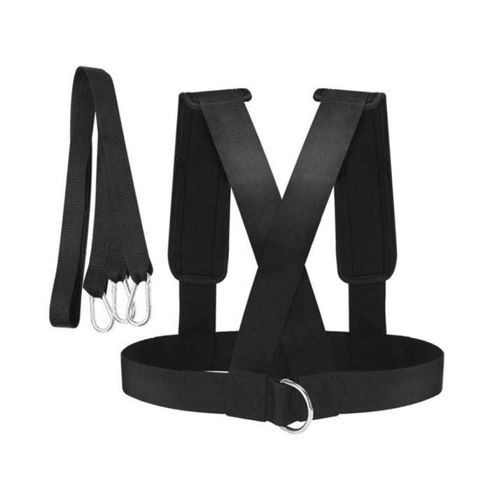 Vitesse course entraînement sangles résistance harnais gilet harnais ceinture de traction force maison Gym Fitness femmes hommes