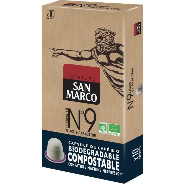 Caps San Marco N° 9 Bio et Compostables x 10