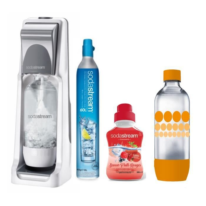 SODASTREAM Pack : Machine COOL Titan + concentré fruits rouges + bouteille Pet