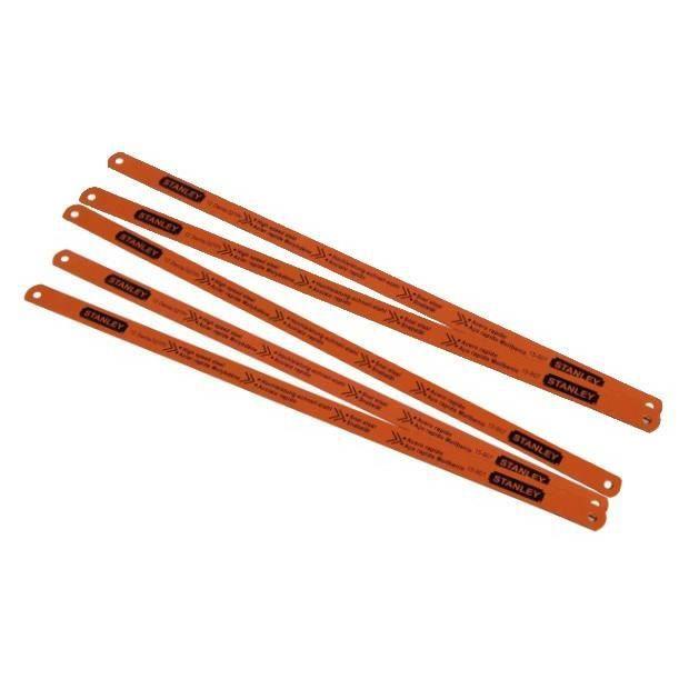 STANLEY Jeu 5 lames de scie à métaux