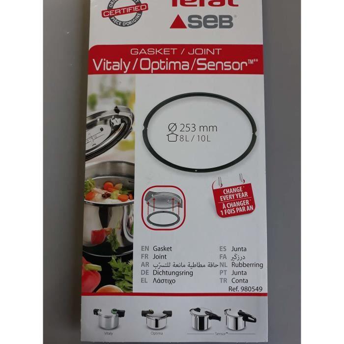 JOINT DE COCOTTE SEB 8L/10L - VITALY/OPTIMA/SENSOR- 980549(ATTENTION ne commandez pas en fonction du diametre)