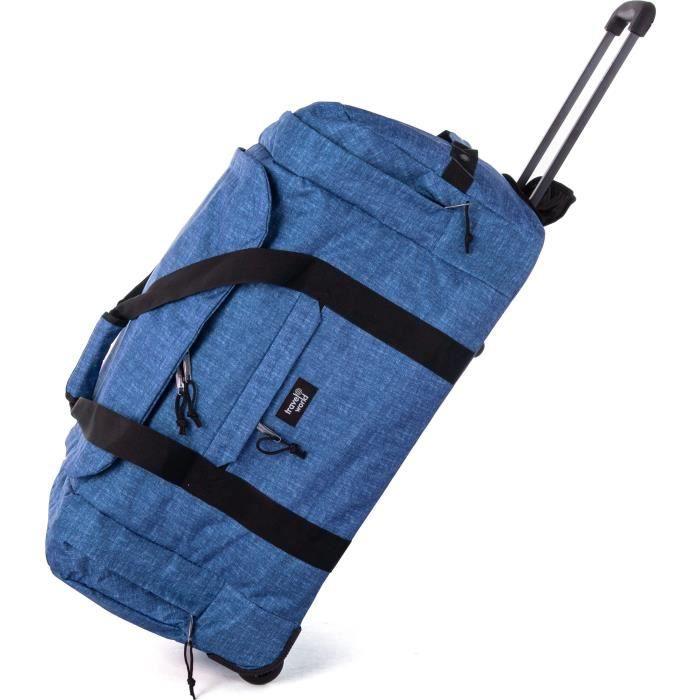 TRAVEL WORLD Sac à Roulettes 72 Cm Couleur Bleu Foncé