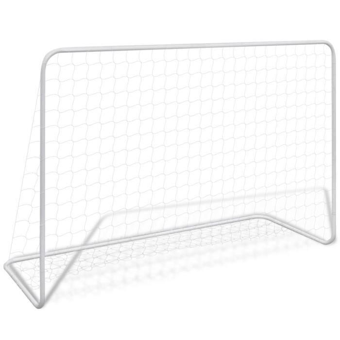 Cage de football en acier 182 x 61 x 122 cm Blanc