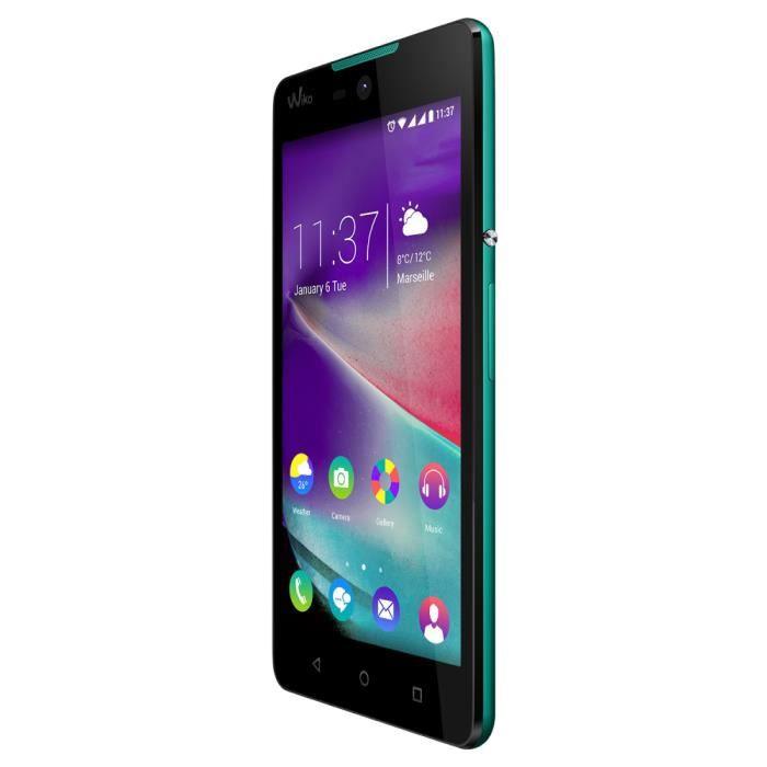 Wiko Rainbow Lite 4G, 12,7 cm (5-), 4 Go, 5 MP, Android, 5.1 Lollipop, Noir, turquoise