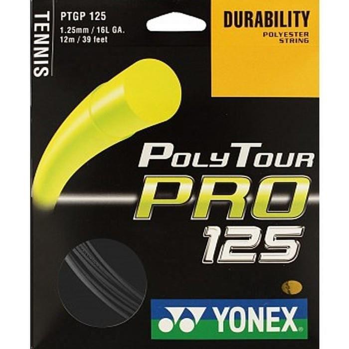 Cordage Yonex Poly Tour Pro Noir - Couleur:Noir Jauge:125