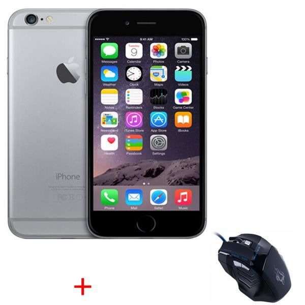 apple iphone 6 16gb gris sans touch id smartphone souris. Black Bedroom Furniture Sets. Home Design Ideas