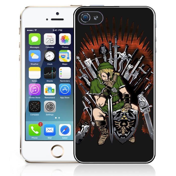Coque iPhone 5C Zelda x Game of Thrones
