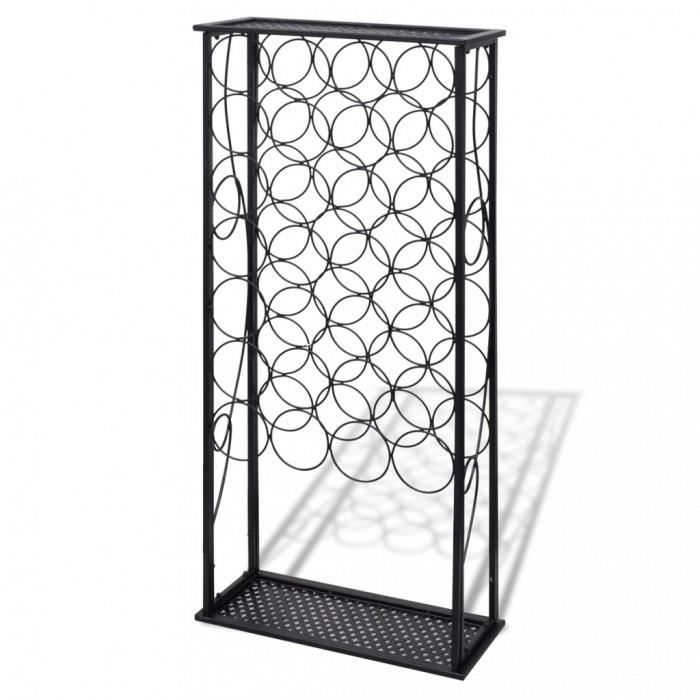 porte bouteilles de vin rack casier a 28 bouteilles de vin en metal achat vente porte. Black Bedroom Furniture Sets. Home Design Ideas