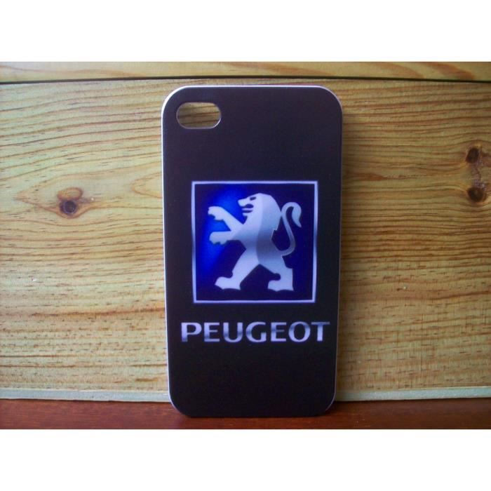 coque peugeot neuf iphone 4 4s motif b achat vente. Black Bedroom Furniture Sets. Home Design Ideas