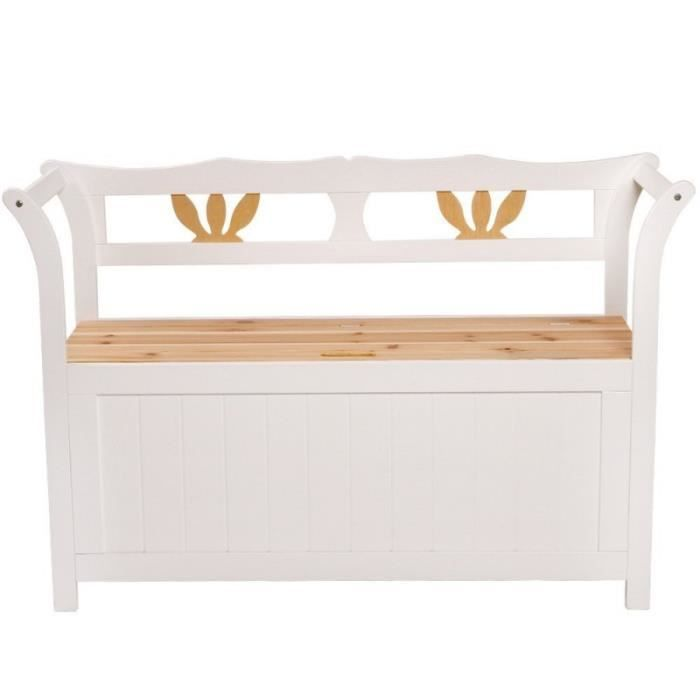 banc de jardin en bois avec coffre 112 cm mobilier de. Black Bedroom Furniture Sets. Home Design Ideas