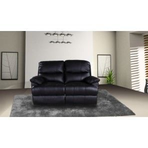 Canap 2 places relax cuir pu noir achat vente canap sofa divan cu - Cdiscount canape relax ...
