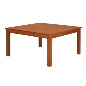 Table rectangle carr e 6 8 places teint e m achat for Table carree 150 x 150