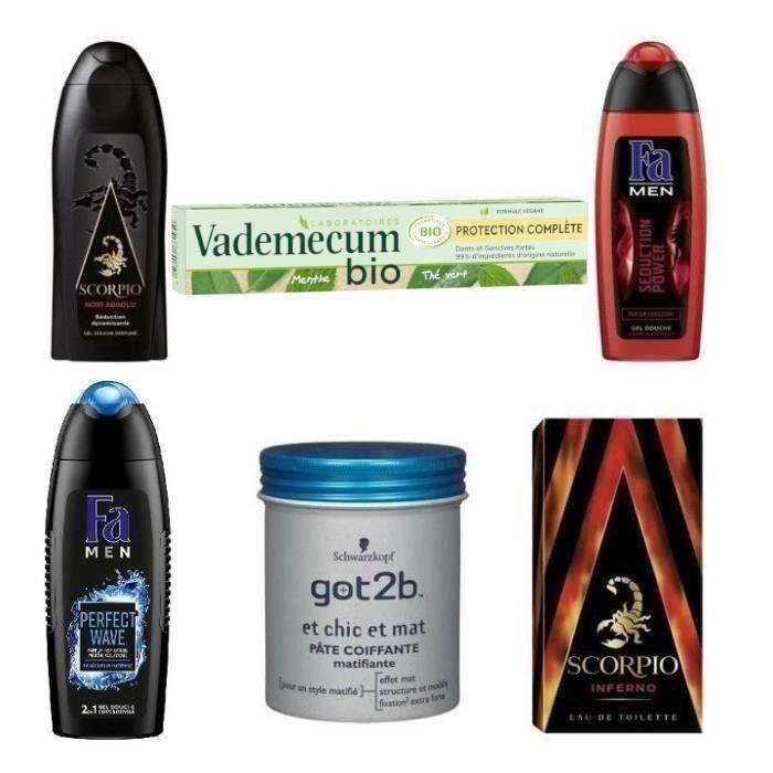 COFFRET CADEAU CORPS Gamme complète hygiène du quotidien pour homme