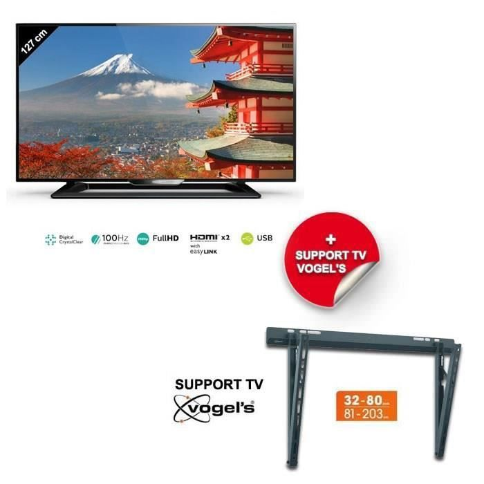 philips 50pfh4009 tv led 127 cm support mural. Black Bedroom Furniture Sets. Home Design Ideas