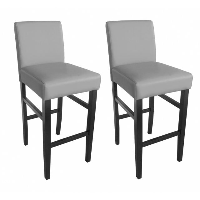 tabourets texas gris lot de 2 haute qualite achat vente tabouret bois polyur thane h tre. Black Bedroom Furniture Sets. Home Design Ideas