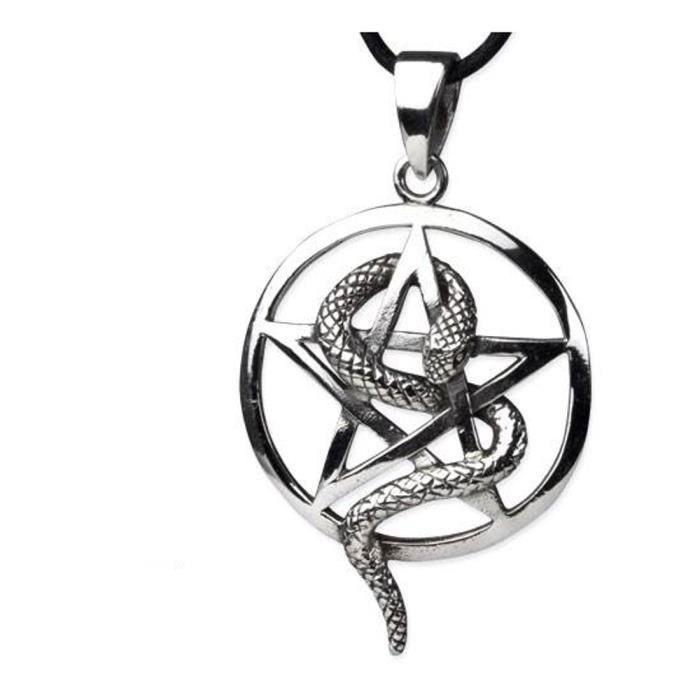 925 argent wicca gothique Pendentif Pentagramme Pentacle Collier Bijoux Art A179