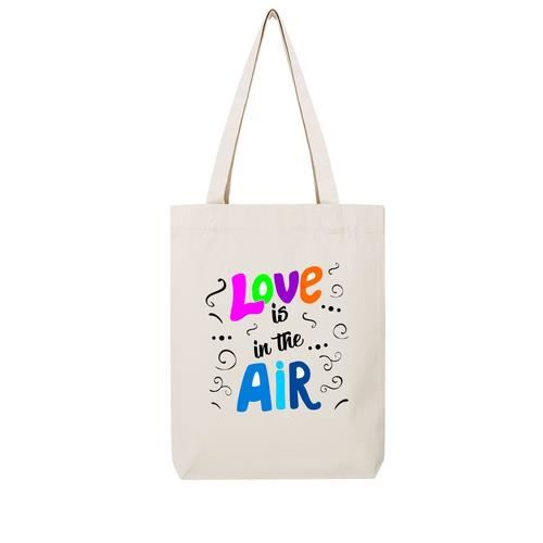 commercialisable magasiner pour le luxe qualité supérieure Tote bag en toile recycle natural love is in the air - Achat ...