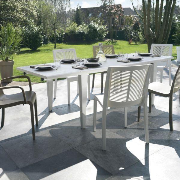 Table De Jardin Alpha 240 Grosfillex Blanc Achat Vente Table