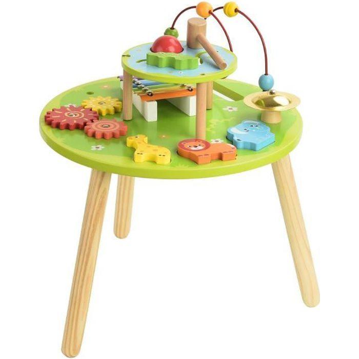 Colorichy Table D Activites En Bois Pour Enfant Achat Vente